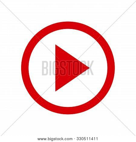 play video button icon in two color design style. play video button vector icon modern and trendy flat symbol for web site, mobile, app, logo, UI. play video button colorful isolated icon on white background. play video button icon simple vector stock photo