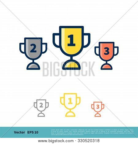 Trophy Icon Vector Logo Template Illustration Design. Vector EPS 10. stock photo