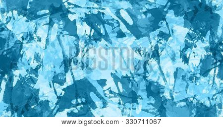 Abstract blue watercolor background. Colorful aquarelle paint texture. Brush strokes. Vivid ink stain pattern. Paint splash. Modern painting. stock photo