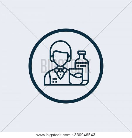 bartender icon in two color design style. bartender vector icon modern and trendy flat symbol for web site, mobile, app, logo, stock photo