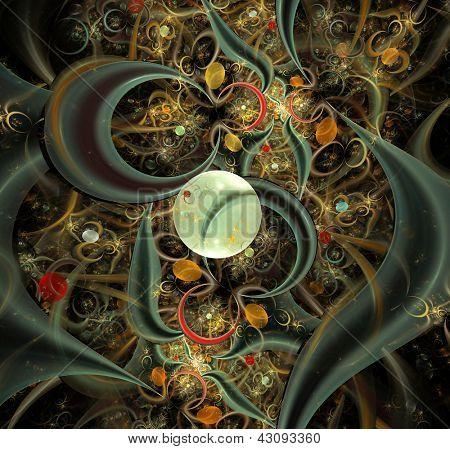 Fond fractal abstraite élégant