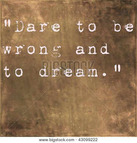 Inspirational quote by Friedrich Von Schiller on earthy brown background stock photo