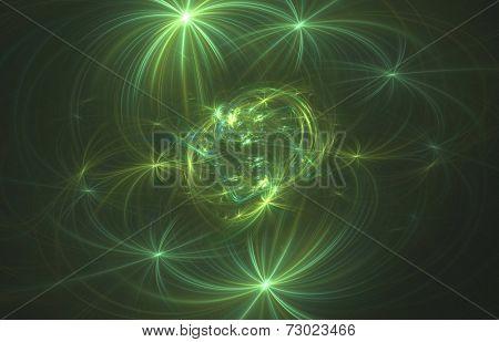 Crab nebula- the abstract illustration stock photo