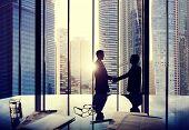 Business Handshake Agreement Partnership Deal Team Office Concept