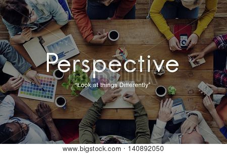 Perspective Attitude Standpoint Viewpoint Point of View Concept stock photo