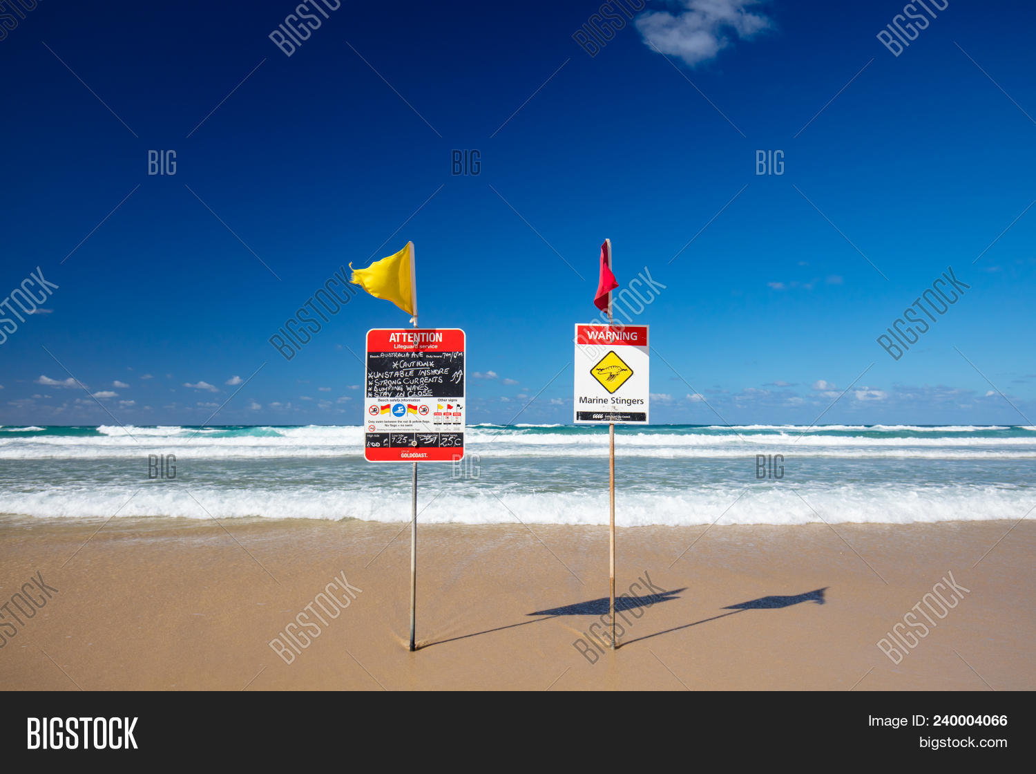 5208361ba1f 🔥 Surf Lifesaving Flags On A Hot Sunny Day In Broadbeach