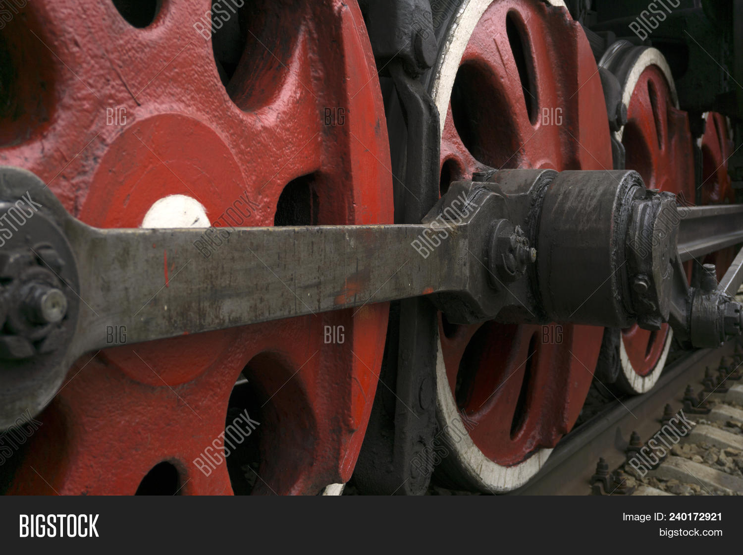🔥 Wheels Of An Old Functioning Steam Locomotive With