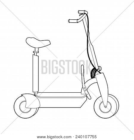 Electric Scooter line icon, Wheel Scooter. Vector illustration stock photo