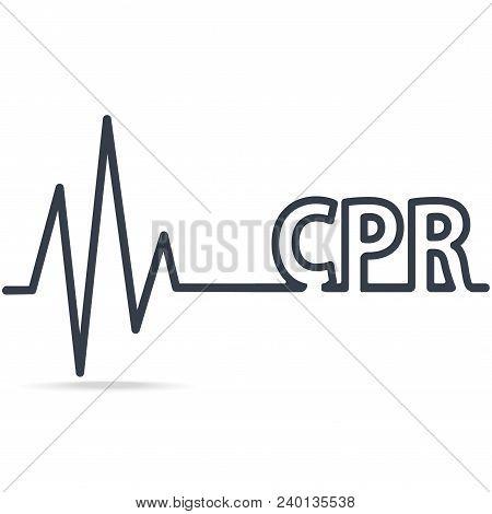 CPR, Cardiopulmonary resuscitation, simple line icon. Medical sign icon stock photo