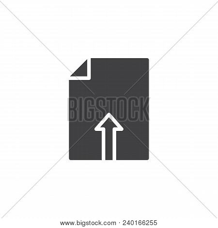 Upload File vector icon. filled flat sign for mobile concept and web design. File Uploading simple solid icon. Symbol, logo illustration. Pixel perfect vector graphics stock photo