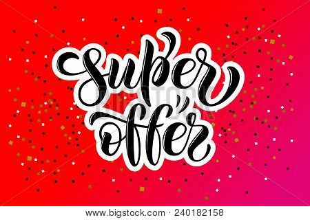 Hand drawn promotional design for banner on website, clothes store. Drawn art sign. Art illustration of logotype for sale, give away, discount,sell out, clearance, closeout, fashion, souvenir, shop stock photo