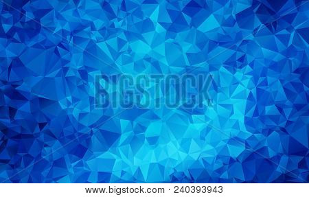 Dark Blue Vector Abstract Textured Polygonal Background. Blurry Triangle Design. Pattern Can Be Used