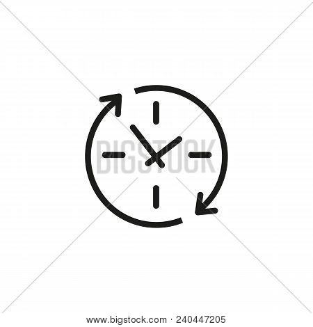 Update clock line icon. Watch, reload, recycle. Timing concept. Can be used for topics like app design, upgrading, renovation stock photo