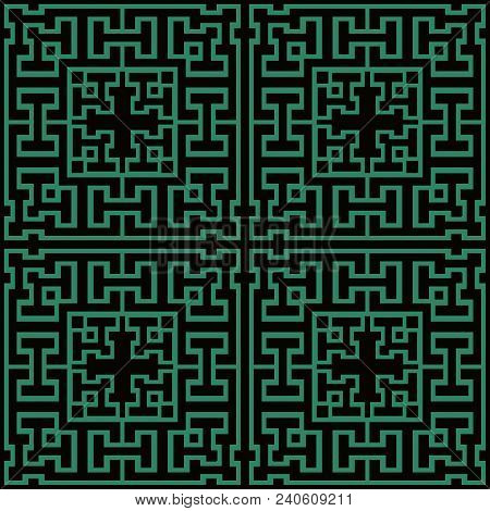 Antique seamless background Square Geometry Cross Tracer Frame, Ideal for wallpaper decoration or greeting card design template. stock photo