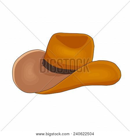 Vector illustration of a cowboy hat stetson. Cartoon style. Wild west theme. stock photo