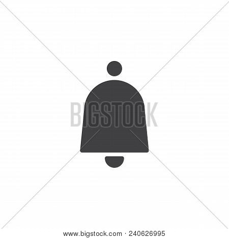 Notification bell vector icon. filled flat sign for mobile concept and web design. Door Ringing bell simple solid icon. Symbol, logo illustration. Pixel perfect vector graphics stock photo