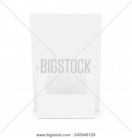 Cardboard Flyer Dispenser Front View Brochure Holder Mockup