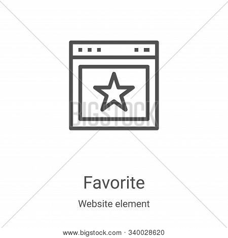 favorite icon vector from website element collection. Thin line favorite outline icon vector illustration. Linear symbol for use on web and mobile apps, logo, print media stock photo
