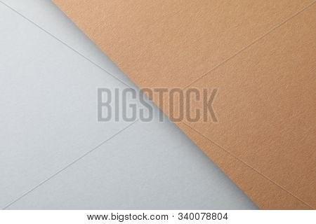 Two tone background, top view. Abstract background stock photo