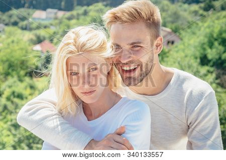 Touching body ecstasy and pleasure. Enjoying nice weekend together. Making love to young lover. Intimacy sensual concept. Sensual relationship. Young lovers stock photo