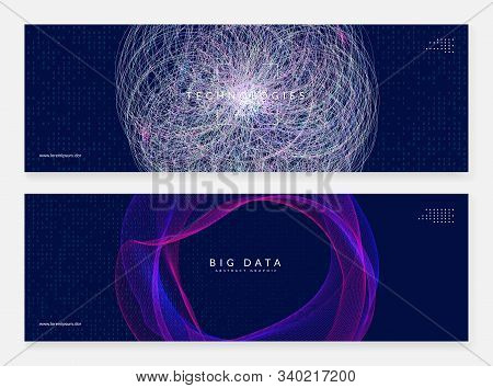 Artificial intelligence. Abstract background. Digital technology, deep learning and big data concept. Tech visual for energy template. Vector artificial intelligence backdrop. stock photo