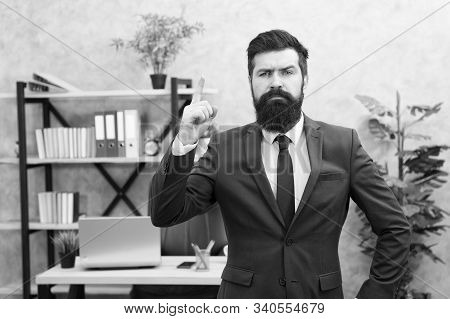 Recruitment department. Job interview. Welcome team member. Recruiter professional occupation. HR manager. Man bearded manager recruiter in office. Recruiter career. Human resources. Hiring concept. stock photo