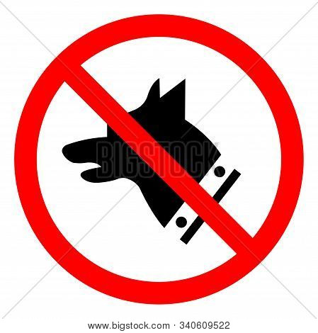 Danger Guard Dog Symbol Sign, Vector Illustration, Isolate On White Background Label. EPS10 stock photo
