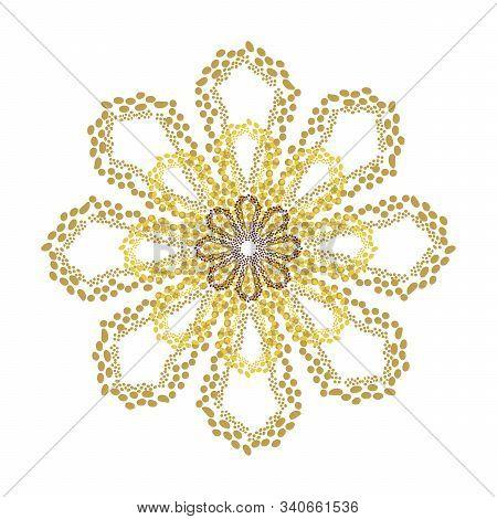 Eight-petalled mandala. Hand drawn vector illustration. Unconventional ornament stock photo