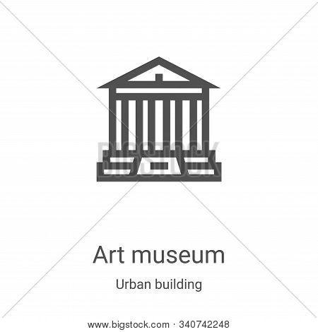 art museum icon vector from urban building collection. Thin line art museum outline icon vector illustration. Linear symbol for use on web and mobile apps, logo, print media stock photo