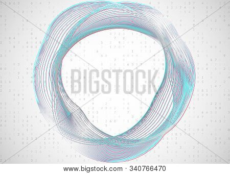 Big data abstract. Digital technology background. Artificial intelligence and deep learning concept. Tech visual for science template. Wavy big data abstract backdrop. stock photo