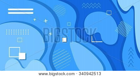web template with blank bars dynamical colorful gradient abstract banner flowing liquid shape fluid color horizontal vector illustration stock photo