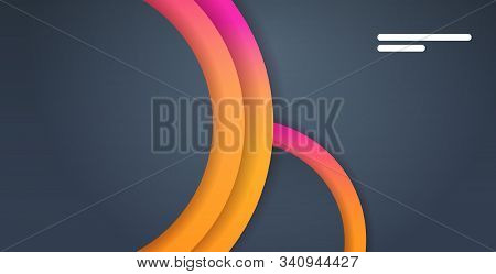 web template with blank bars dynamical colorful gradient abstract banner flowing liquid fluid color modern graphic element horizontal vector illustration stock photo