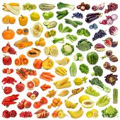 Rainbow accumulation of foods grown from the ground