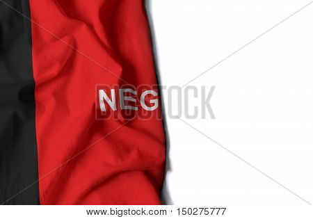 flag of paraiba brazilian state wrinkled flag with space for text stock photo