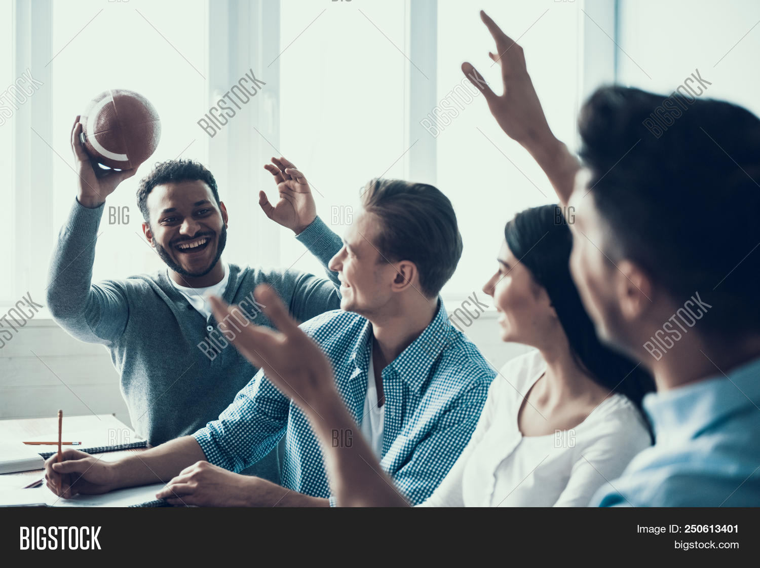 adult,american,ball,beautiful,boy,class,classroom,college,concept,desk,education,equipment,female,football,friends,game,girl,group,guy,handsome,happy,holding,indoor,knowledge,learn,learning,leisure,lesson,male,man,men,multiethnic,notes,pencil,people,play,player,rugby,smiling,sport,student,team,teenager,together,women,writing,young,youth