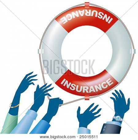 People need an insurance life-saver. stock photo