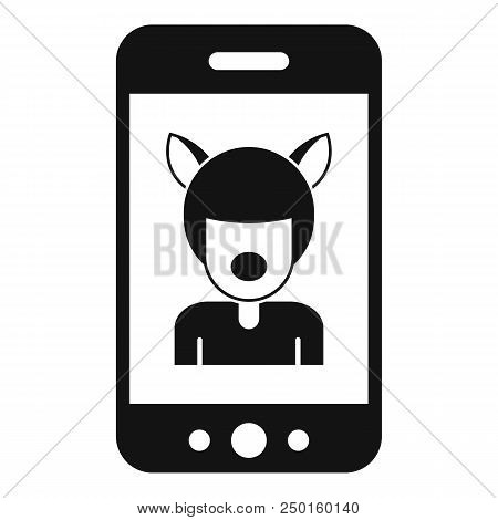 Selfie mask animal icon. Simple illustration of selfie mask animal vector icon for web design isolated on white background stock photo