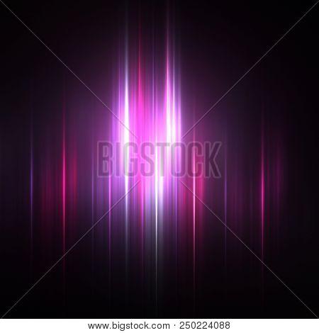 Fractal Northern Lights - Fractal Background- Fractal Art stock photo