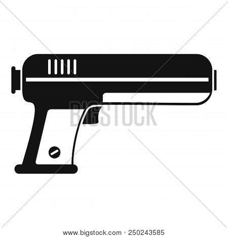 Toy water gun icon. Simple illustration of toy water gun vector icon for web design isolated on white background stock photo