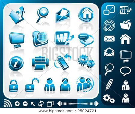 Icon set of internet, vector illustration layers file. stock photo