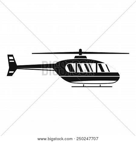 Utility helicopter icon. Simple illustration of utility helicopter vector icon for web design isolated on white background stock photo