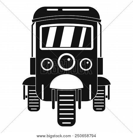 Auto rickshaw icon. Simple illustration of auto rickshaw vector icon for web design isolated on white background stock photo