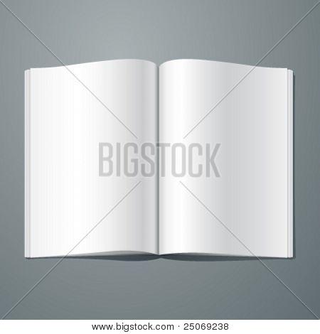 Vector blank magazine spread. Editable. No mesh. stock photo