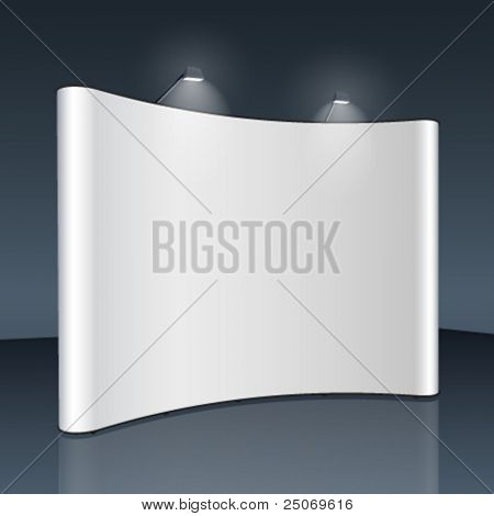 Vector blank trade show booth for designers stock photo