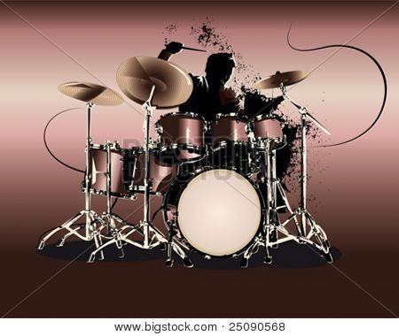 drummer solo stock photo