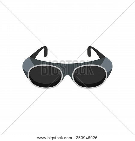 Welding glasses icon. Flat illustration of welding glasses vector icon for web isolated on white stock photo