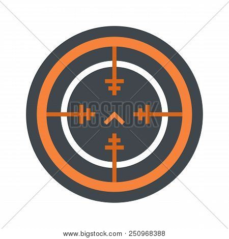Svd gun aim icon. Flat illustration of svd gun aim vector icon for web isolated on white stock photo