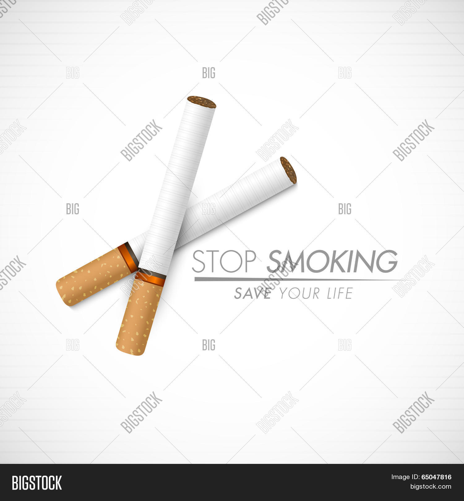Poster Banner Or Flyer Design For World No Tobacco Day With Cigarettes And Stylish Text Stop Smokin 65047816 Image Stock Photo