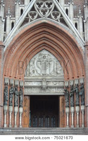 entrance to cathedral of La Plata