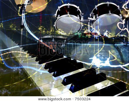 Fond musical jazz